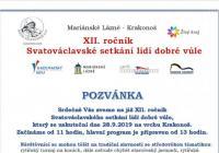 Svatováclavské setkání lidí dobré vůle u hotelu Krakonoš - Mariánské Lázně