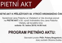 Pietní akt ve Všetatech k 50. výročí hrdinského činu Jana Palacha