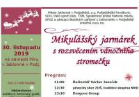 Rozsvícení vánočního stromu - Jablonné v Podještědí