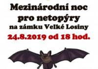 Mezinárodní noc pro netopýry - Zámek Velké Losiny
