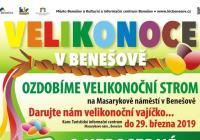Velikonoční jarmárek na náměstí v Benešově