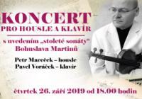 """Koncert pro housle a klavír s uvedením """"stoleté sonáty"""" B. Martinů"""