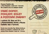 Staré dopisy, pohledy, kolky a poštovní známky / 90 let Klubu filatelistů Turnov