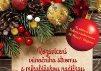Rozsvícení vánočního stromu s Mikulášem - Praha Březiněves