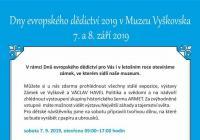 Dny evropského dědictví - Muzeum Vyškovska
