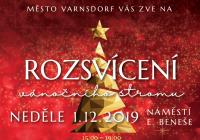 Rozsvícení vánočního stromu - Varnsdorf