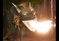 Ohňová show - zrození draka