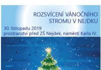 Rozsvícení vánočního stromu - Nejdek
