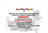 Masopust a Šibřinky - Brno Bosonohy
