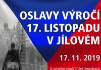Oslavy 17. listopadu - Jílové u Prahy