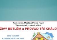 Živý betlém a Tři králové - Praha Řepy