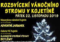 Rozsvícení vánočního stromu v Kojetíně