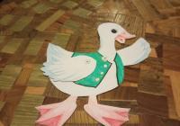 Svatomartinské tvoření pro děti - Husa hýbací a mrkací :-)