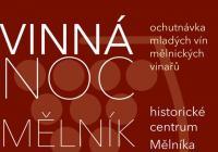 Vinná noc na náměstí města Mělník