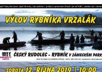 Výlov rybníka Vrzalák v Českém Rudolci