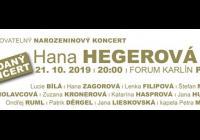 Hana Hegerová v Praze