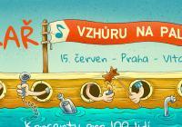 Pekař na lodi na Vltavě