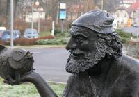 Kašna Starý muž s rybou