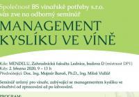 Seminář - management kyslíku ve víně
