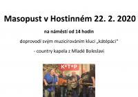 Masopust 2020 – Hostinné