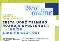 Konference Osobní prosperita - Cesta udržitelného rozvoje společnosti aneb Krize jako příležitost