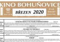 Program kina Bohuňovice na březen 2020
