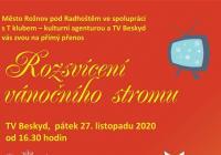 LIVE stream - Rozsvícení vánočního stromu online Rožnov pod Radhoštěm