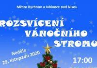 Rozsvícení vánočního stromu online - Rychnov u Jablonce