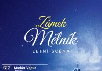 Letní scéna na zámku Mělník