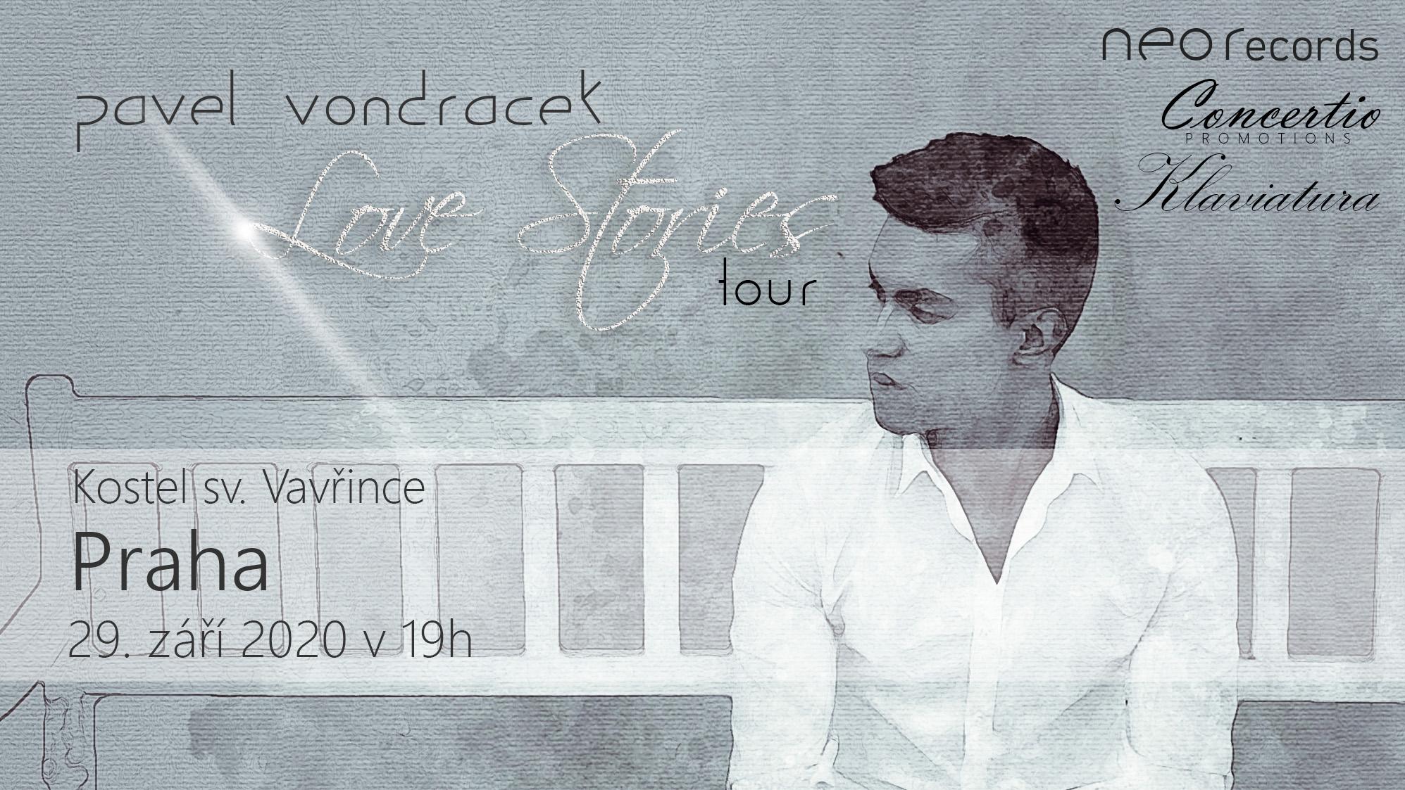 Pavel Vondráček - Love Stories Tour - koncert v Praze -Kostel sv. Vavřince pod Petřínem, Hellichova