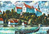 Stanislav Trnka Bechyňské veduty v barevné grafice & oleje, pastely, akvarely