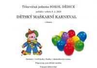 Karneval pro děti 2020 - Vyškov Dědice