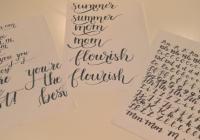 Moderní kaligrafie – handlettering