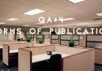 G. a. d. o. & Stefan Klein / QA#4 / Forms of Publication
