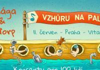 Mňága a Žďorp na lodi na Vltavě