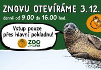 Zoo Jihlava od prosince znovu otevřena