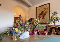 Zahájení lovecké sezony na hradě Veveří - výstava květinových aranžmá