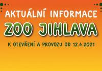 Otevření venkovních prostor v Zoo Jihlava