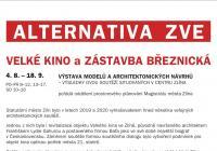 Výstava modelů a architektonických návrhů - Velké kino a zástavba Březnická