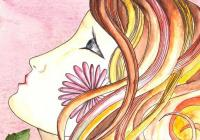 O krásné paní a lněné kytli