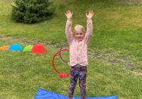 Venkovního cvičení pro děti