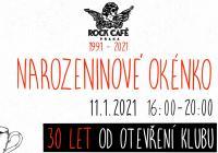 Narozeninové okénko   30 let Rock Café