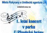 1. letní koncert v parku U Plzeňské brány