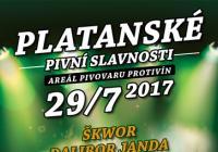 Platanské pivovarské slavnosti 2017