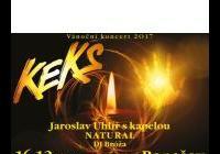 Vánoční koncert KEKS + Natural + DJ Bróža