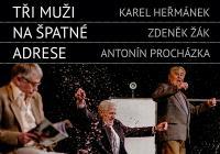 Letní scéna Harfa: Tři muži na špatné adrese