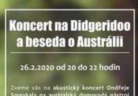 Ondřej Smeykal - koncert na Didgeridoo a beseda o Austrálii
