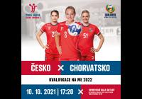 Házená - ženy Česká republika - Chorvatsko Kvalifikace mistrovství Evropy