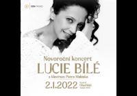 Novoroční koncert Lucie Bílé s klavírem Petra Maláska