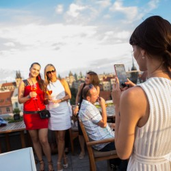 Rooftop brunch party